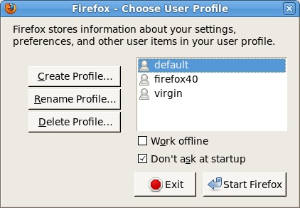 Running multiple Firefox versions & profiles at the same time