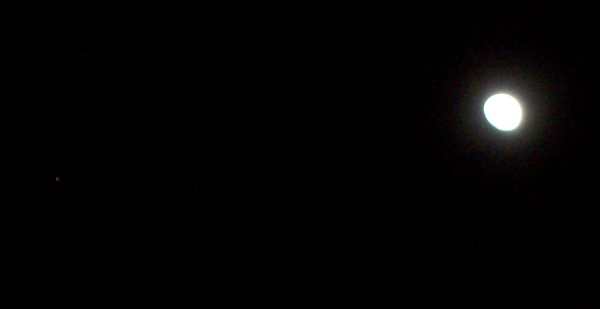 Mars next to the Moon