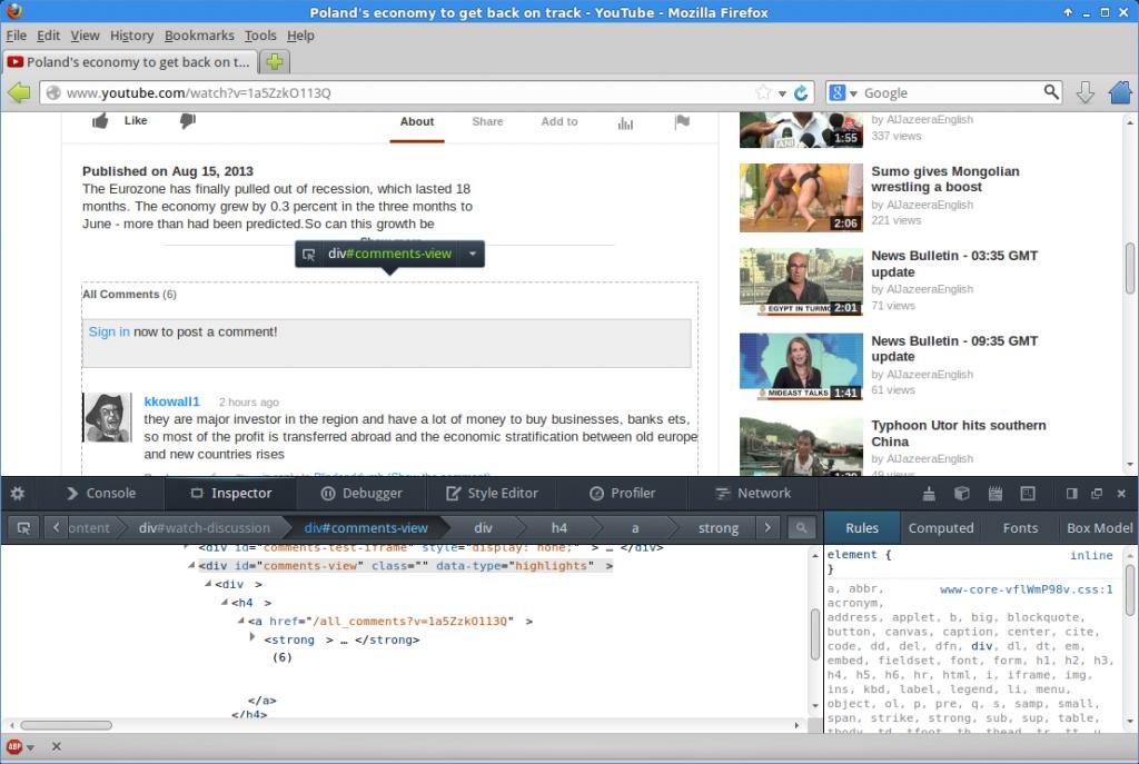 Firefox Inspect Element